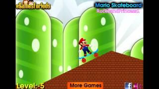 Play Free Online Mario Games For Kids - Mario Skateboard Game - Mario Games