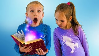 Amelia and Avelina compilation Tuesday. They find a magic book and have fun in the garden