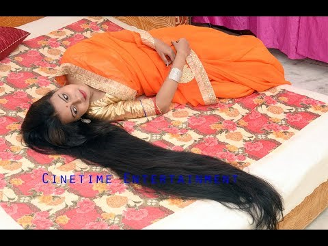 Real Life Rapunzel in India with Romantic Long Hair on Bed