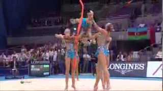 2009 World Championships Group Event Finals (5 Hoops and 3 Ribbons + 2 Ropes) (HD)