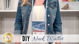 DIY Neck Wallet | a Shabby Fabrics Sewing Tutorial