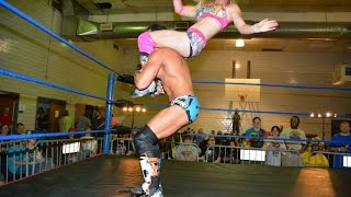 Candice LeRae VS.  Johnny Gargano -Absolute Intense Wrestling [Intergender Wrestling]