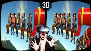 VR 3D Roller Coaster VR Videos 3D Theme Park [Google Cardboard VR Box 360] Virtual Reality Video 3D