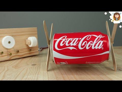 Como fazer um Carrinho Robô Coca Cola que Anda