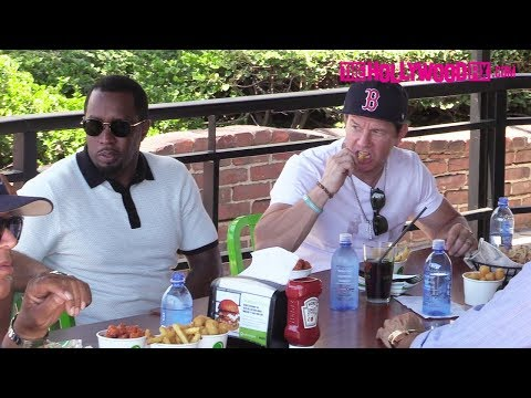 Diddy Takes Over Mark Wahlberg s Wahlburgers Restaurant During Lunch With DJ Khaled 6.13.18