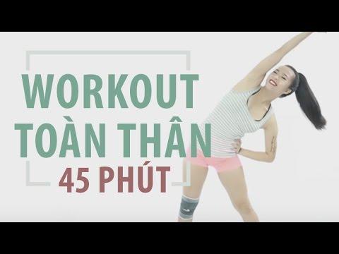 Bài tập workout toàn thân 45 phút Hana Giang Anh