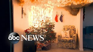 Potential hazards of Christmas light decorations