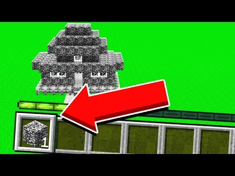 BUILDING A HOUSE IN MINECRAFT WITH 1 BLOCK 1 JUMP 1 BLOCK w UnspeakableGaming