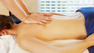 Relaxing Back Massage Tutorial with Oil, Swedish & Deep Tissue Massage Techniques, HD 60fps