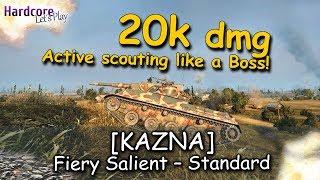 WOT: [KAZNA] Active scouting like a Boss on Prokhorovka, 20k+ assist damage