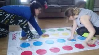 CRAZY WIFE AND CRAZY DAUGHTER PLAY ING TWISTER