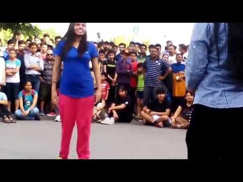 College Girls Dance in Public __ School Girls Dance __ Desi girls and boys dj dance ( 360 X 640 )