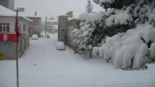 1 Günlük Kar Yağışını 1 Dakikada İzle