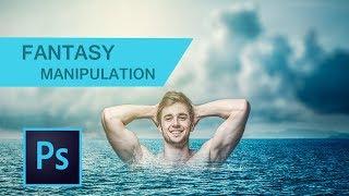 MAN UNDER-WATER MANIPULATION : Photoshop Manipulation Tutorial   Like CB EDITS  