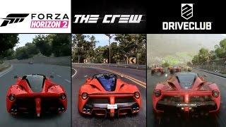 DriveClub vs. Forza Horizon 2 vs. The Crew | LaFerrari Sound & Graphics Comparison (PS4 & Xbox One)