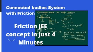 Connected bodies System with Friction using newton laws of motion