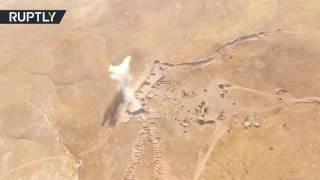 طائرة دون طيار تسجل معارك جارية في حي الوعر