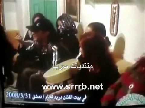 القذافي في حفلة خاصه مع فنانات وفنانين سوريا
