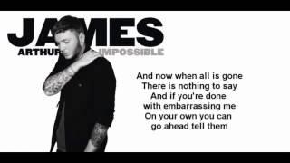 James Arthur - Impossible (Official Lyrics Video)