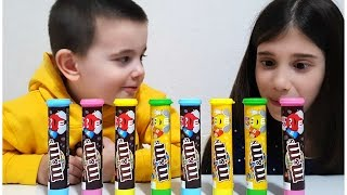 Learn Colors with M&M Candy for Children - Simple Songs & Nursery Rhymes - Johny Johny Yes Papa