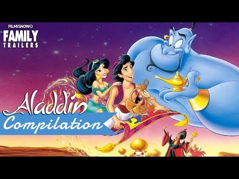 ALADDIN All the BEST Clips and Trailer Compilation for Disney Classic Movie