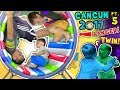 WHEELS ON THE BUS, OUCH!  WORLD'S COOLEST INDOOR PLAYGROUND Cancun Mexico Pt 5 v