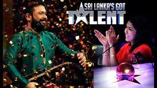 කොහොමද වාගීෂන්ගේ වාදනය  'Sri Lanka's Got Talent'  Wageeshan Wins Saundarei's Golden Buzzer!