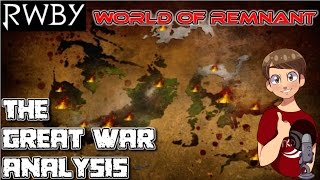 RWBY World of Remnant - The Great War Analysis