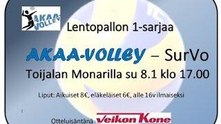 Akaa Volley - SurVo Ykkössarja 8.1.2017 klo 17.00