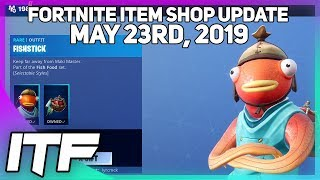 Fortnite Item Shop *NEW* FISHSTICK IS BACK AND NEW WRAPS! [May 23rd, 2019] (Fortnite Battle Royale)