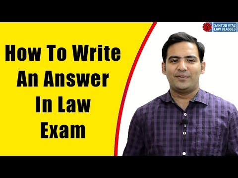 How to write an answer in law exam by Advocate Sanyog Vyas