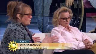 Marie Göranzon och Marie-Louise Ekman om fördelarna med att bli äldre  - Nyhetsmorgon (TV4)