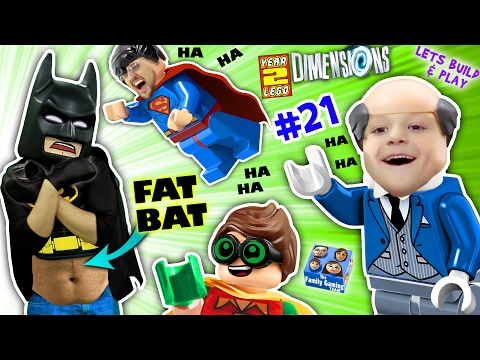 FAT LEGO BATMAN Movie Game Alfred Shrinks Bat Suit Let s Build & Play LEGO Dimensions YEAR 2 21