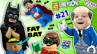 FAT LEGO BATMAN? Movie Game! Alfred Shrinks Bat Suit (Let