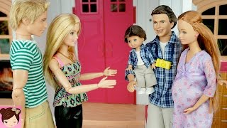 Pregnant Midge Visits Barbie and Ken in The Dreamhouse - Stories with Dolls - Titi Toys