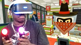Playstation VR Gameplay - ARMED ROBBERY IN MY STORE! (Job Simulator)