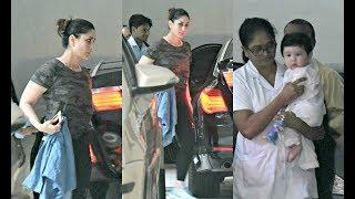 Kareena Kapoor And Taimur Ali Khan Return From Gym