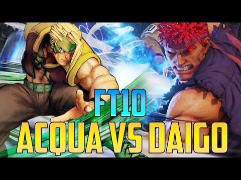 Street Fighter V / 5 - Daigo Umehara Vs ACQUACQUA FT10【1080p60 First To 10】