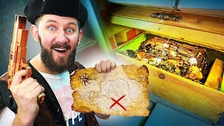 NERF Battle for the Treasure Chest Challenge!