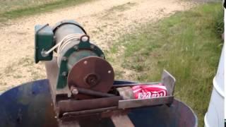 Утилизатор банок \ Aluminum pop can Pitman drive crusher
