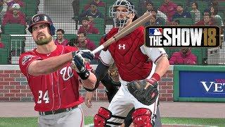MLB The Show 18 - Matt Myer Road To The Show Washington Nationals Catcher EP 6 MLB 18 RTTS