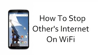 [Hindi] How To Disable/Stop Someone's Internet Connection On WiFi-Tech4Joy