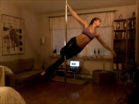 Black pole dancing freestyle Trinity Fields