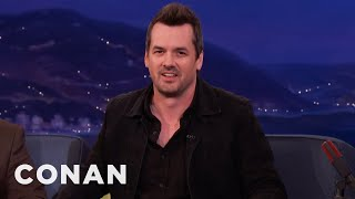 Jim Jefferies Accidentally Gave His Son Food Poisoning  - CONAN on TBS