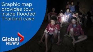 Take 3D tour inside Thailand cave where soccer team is trapped