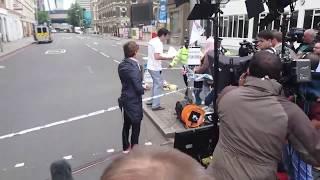 Fake protest staged by CNN film crew at London Bridge terrorist attack scene