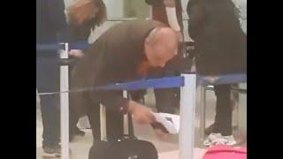 شاهدو لحظة الوداع والنظرة الاخيرة بين حنان الخضر ورفاييل جبور في مطار بيروت