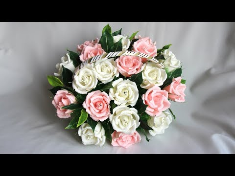 Мастер класс. Букет из конфет Корзина с розами своими руками - videooin.com - Watch High Quality Videos