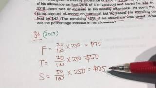 Red Swastika P6 Comparison Percentage SA1 2016 Paper 2 Q16