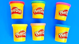 Open Play Doh Surprise Toys Finger Family Song Nursery Rhymes Learn Colours